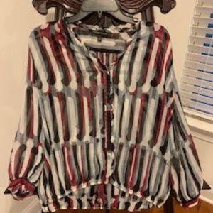 Cynthia Steffe flouncy striped blouse